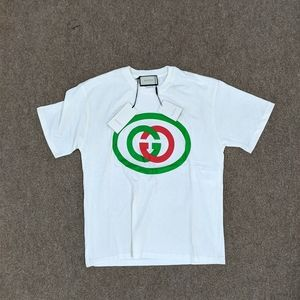 Gucci Green Red Interlocking G White Cotton Tee